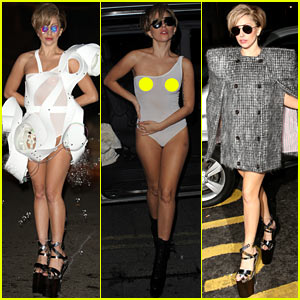 Lady Gaga Reveals Breasts in Sheer Outfit After iTunes Festival
