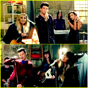 Lea Michele Shares First Look at Adam Lambert on 'Glee'!