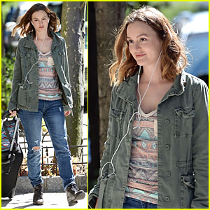 Leighton Meester: 'Like Sunday, Like Rain' NYC Shooting!