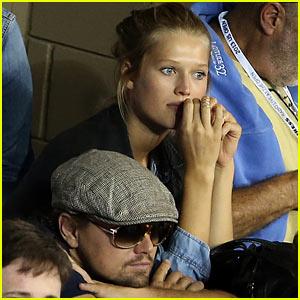 Leonardo DiCaprio & Toni Garrn Watch US Open in the Moet Suite!