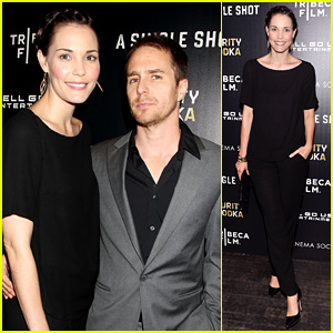Leslie Bibb & Sam Rockwell: 'Single Shot' NYC Screening!