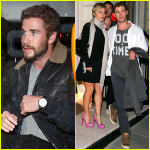 Liam Hemsworth Reunites with Brother Chris in London!