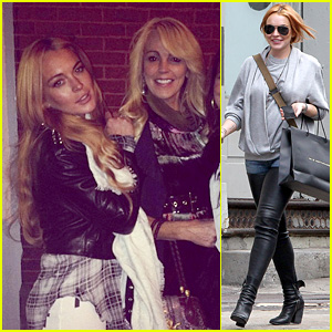 Lindsay Lohan Steps Out After Mom Dina's Birthday Party