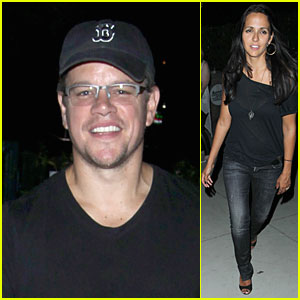 Matt Damon: Fun Concert Date with Wife Luciana!