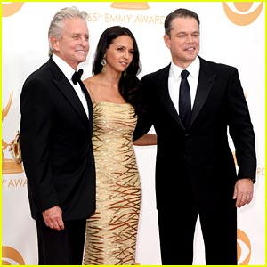Michael Douglas & Matt Damon - Emmy Awards 2013