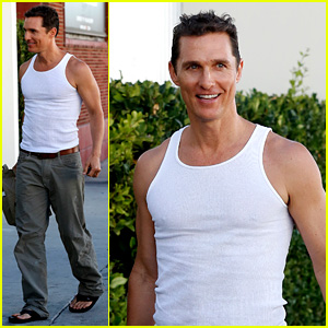 Matthew McConaughey Bares His Guns in Tight Tank Top