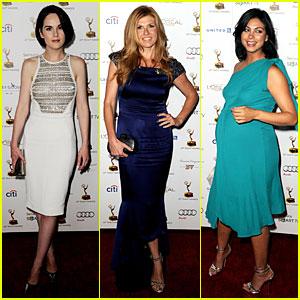 Michelle Dockery & Connie Britton: Emmys Nominee Reception!