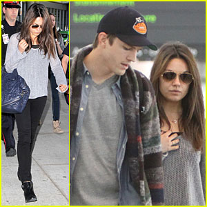 Mila Kunis & Ashton Kutcher Fly to Just for Laughs Festival!