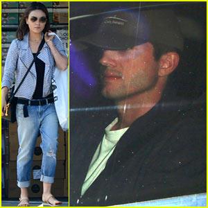 Mila Kunis Shops Before Chateau Visit with Ashton Kutcher!