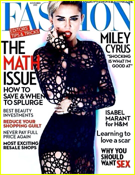 Miley Cyrus Covers Up on 'Fashion' Magazine November Cover