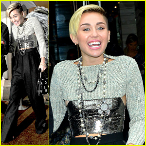 Miley Cyrus Steps Out in Paris Before 'Wrecking Ball' Premiere