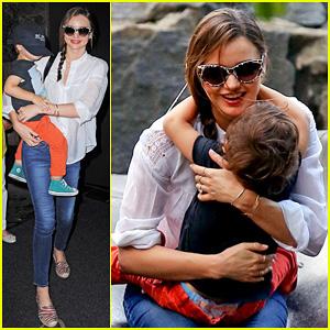 Miranda Kerr: Central Park Fun with Flynn!