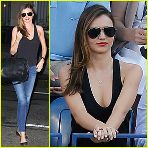 Miranda Kerr: U.S. Open Women's Final Spectator!