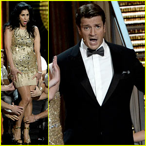 Nathan Fillion & Sarah Silverman: Emmys 2013 Performance - Watch Now!