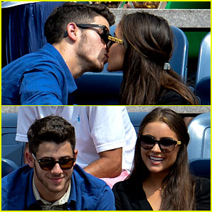 Nick Jonas Kisses Olivia Culpo at US Open Tennis Match!