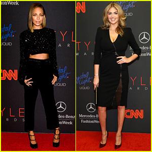 Nicole Richie & Kate Upton - Style Awards 2013