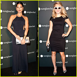 Olivia Munn & AnnaSophia Robb: Sunglass Hut NYC Opening!