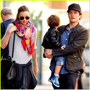 Orlando Bloom & Miranda Kerr: Downtown Stroll with Flynn!