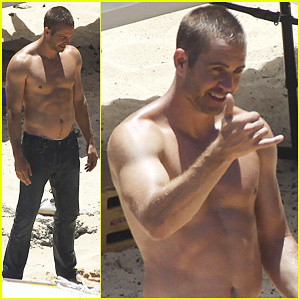 Paul Walker: Shirtless 'Cool Water' Cologne Photo Shoot!