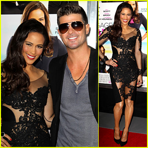 Paula Patton: 'Baggage Claim' Premiere with Robin Thicke!