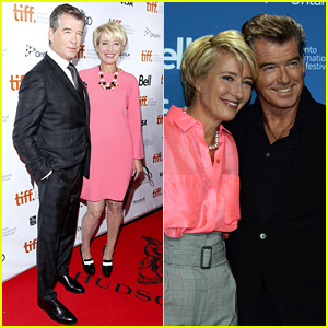 Pierce Brosnan & Emma Thompson: 'Love Punch' at TIFF!