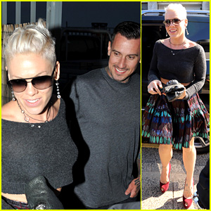 Pink & Carey Hart Meet with Record Executives in Sydney
