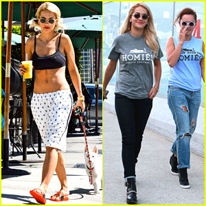 Rita Ora Flaunts Abs, Hangs with Older Sister Elena