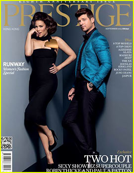 Robin Thicke & Paula Patton Cover 'Prestige' September 2013
