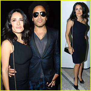 Salma Hayek & Lenny Kravitz: Saint Laurent Fashion Show!