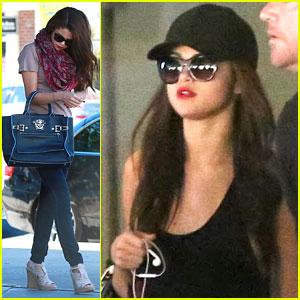 Selena Gomez Grabs Sushi After Arriving Back in L.A.