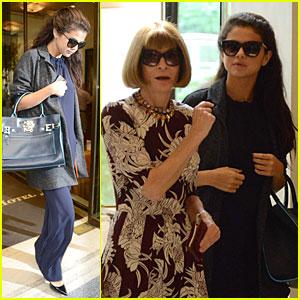 Selena Gomez Meets Anna Wintour in Milan!