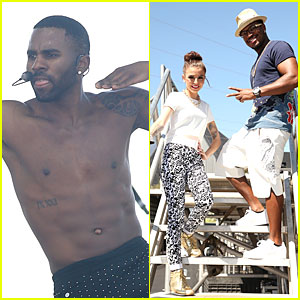 Shirtless Jason Derulo & Cher Lloyd Perform at iHeartRadio Fest!