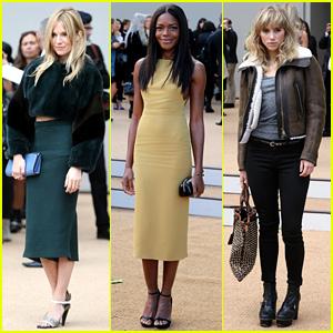 Sienna Miller & Naomie Harris: Burberry Prorsum Fashion Show!