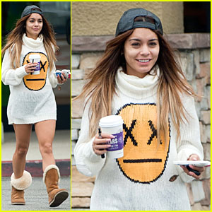 Vanessa Hudgens: Pantless for Coffee & Beach Stop!