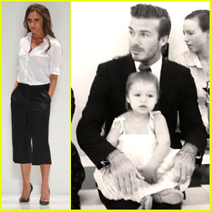 Victoria Beckham Presents Her Spring Collection at Fashion Week