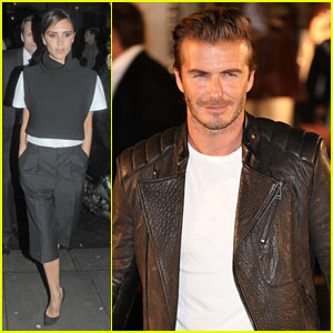 David & Victoria Beckham Attend Separate Events in London