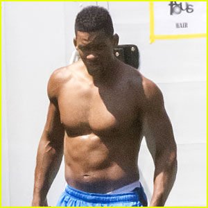 Will Smith: Shirtless Fighting Moves For 'Focus'!