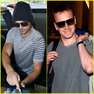 Zac Efron & Michael Fassbender Arrive for Toronto Film Festival