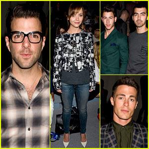 Zachary Quinto & Christina Ricci: Richard Chai Fashion Show!