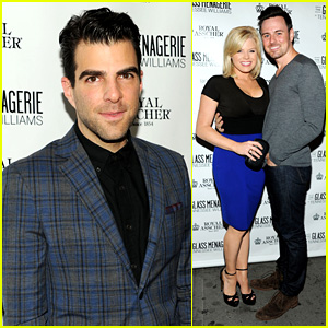 Zachary Quinto & Megan Hilty: 'Glass Menagerie' Opening Night!