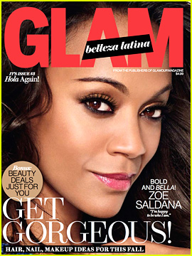Zoe Saldana Covers 'Glam Belleza Latina' October 2013