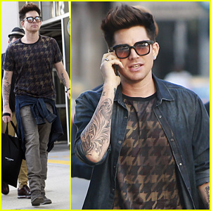 Adam Lambert: Beverly Hills Shopper with Markus Molinari!
