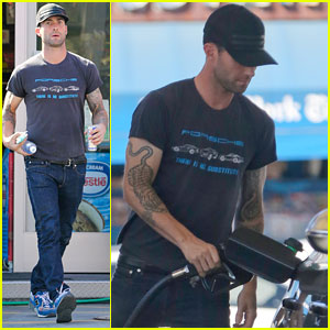 Adam Levine Steps Out After Dinner with Behati Prinsloo's Parents