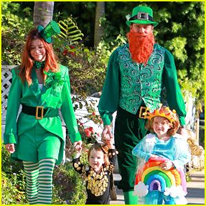 Alyson Hannigan u0026 Family Leprechaun Hallowen Costume 2013!  sc 1 st  Just Jared & Alyson Hannigan u0026 Family: Leprechaun Hallowen Costume 2013! | 2013 ...