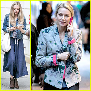 Amanda Seyfried & Naomi Watts: 'While We're Young' Cell Use!