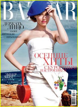 Amber Heard Covers 'Harper's Bazaar Russia' November 2013