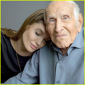 Angelina Jolie Leans on 'Unbroken' Hero Louis Zamperini!