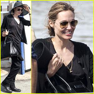 Angelina Jolie Wears Mysterious Ring on 'Unbroken' Work Trip