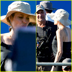Angelina Jolie: Hard at Work on 'Unbroken' Set!