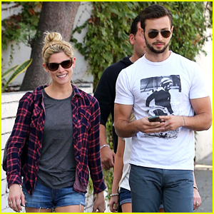 Ashley Greene & Paul Khoury Hang Out with Friends